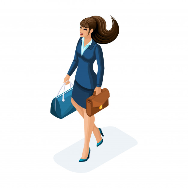 beautiful woman business trip comes with her luggage elegant business suit traveling business lady 130740 1593 1